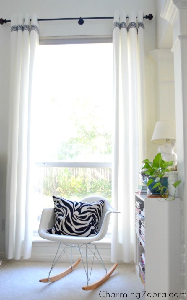 diy faves ikea drapes with contrasting stripe added