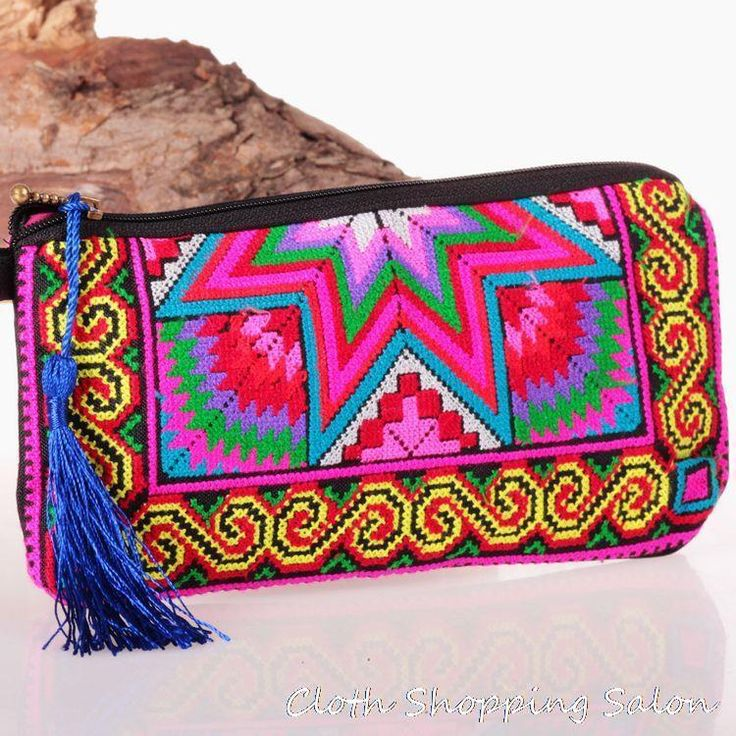 new national embroidery embroidered bags stitch ethnic Coin purse women s handmade small cloth handbag