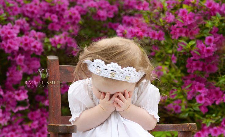 Crochet Baby Girl Crown. Princess Baby Girl от SweetnessInSmyrna