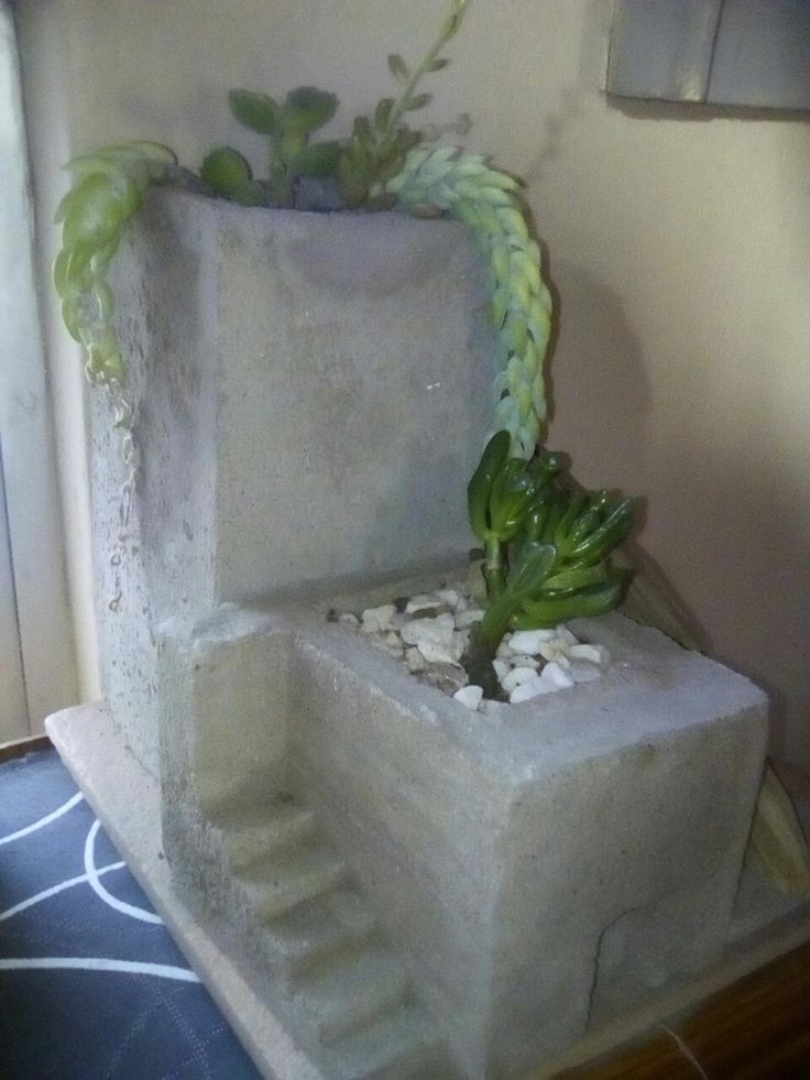 Concrete architectural planter