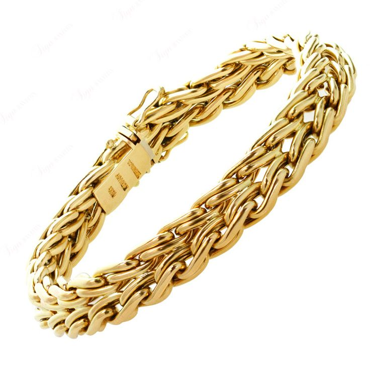 1stdibs.com | TIFFANY & CO. Braided Yellow Gold Chain Bracelet