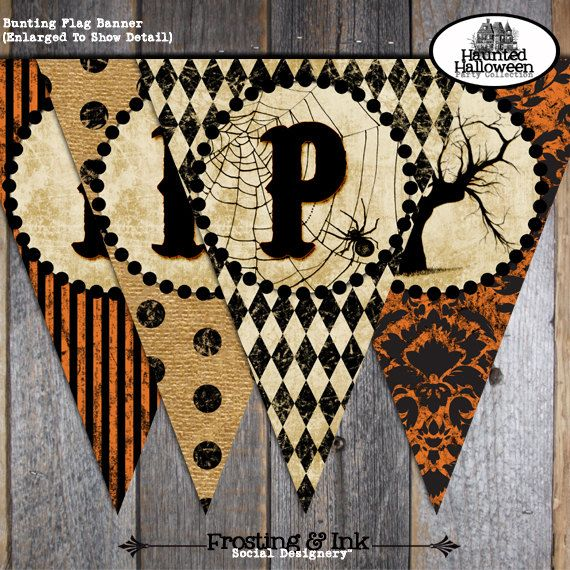 Halloween Party  Complete Collection  Toppers by frostingandink, $38.00