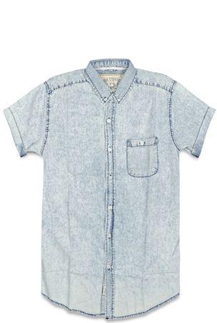 Camisa jean manga corta si tu closet no la tiene ya llego el momento