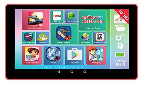 Lexibook – MFC511FR – Tablette Tactile – Lexitab – 10 pouces: Tablette enfant avec écran 10'' HD Android 5.1, 1 Go de mémoire RAM,…