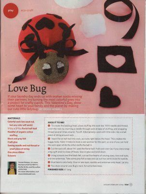 valentines crafts heart bug