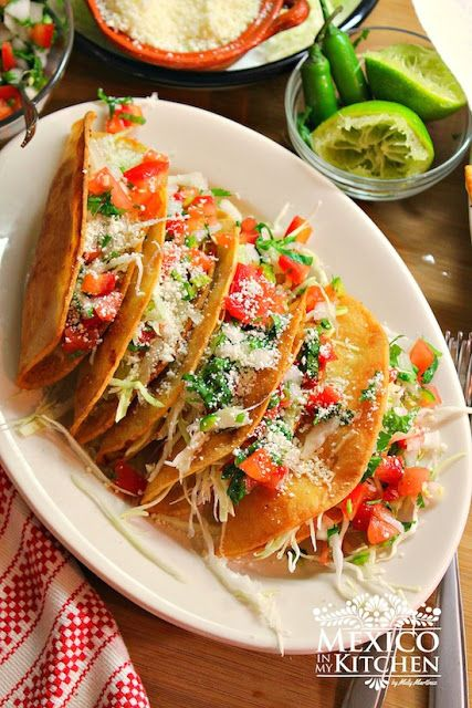 Mexico in My Kitchen: Crispy Potato Tacos with Pico de Gallo Salsa- Tacos Dorados de Papa       |Authentic Mexican Food Recipes Traditional Blog