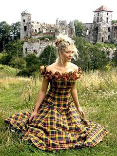 Autumn, Tartan (Plaid) Wedding Dress