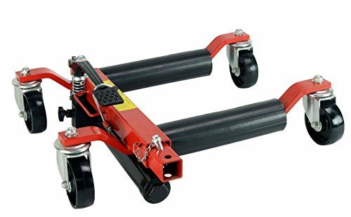 Quantity 2 – Hydraulic Car Wheel Dolly Positioning Jack easily move Vehicle 1500 lb 13.5″ Wide 12″ Tires