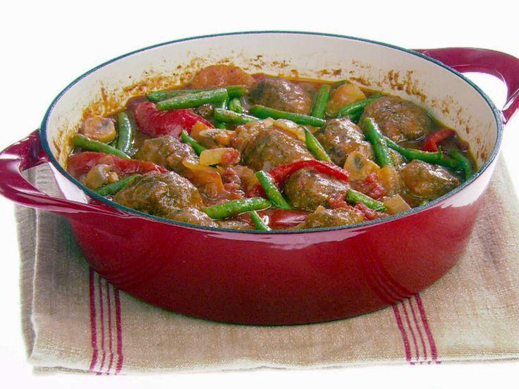Hearty Meatball Stew recipe from Giada De Laurentiis via Food Network