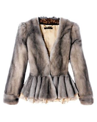 Cropped mink jacket, Roberto Cavalli. Would love to have my mink restyled to look like this.