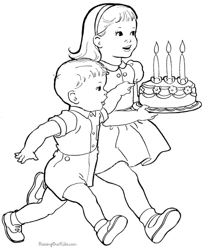 These Free Printable Cute Birthday Coloring Sheets Are Fun For Kids