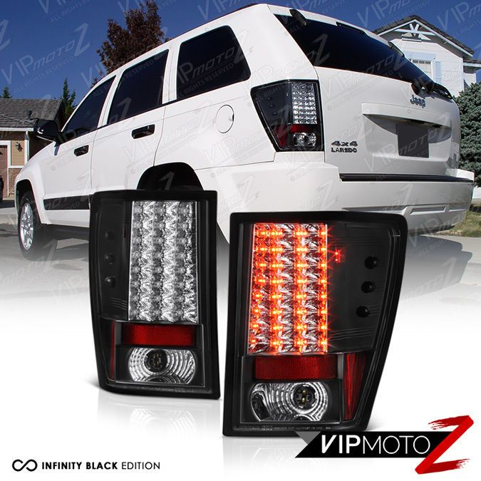 2005-2006 Jeep Grand Cherokee Laredo Black Led Tail Light Brake Lamp Left+right #VIPMOTOZ