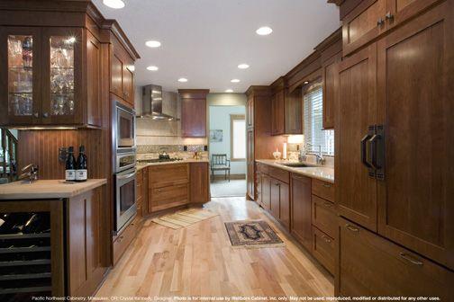 Hanover Cherry, Light. light floor darker kitchen