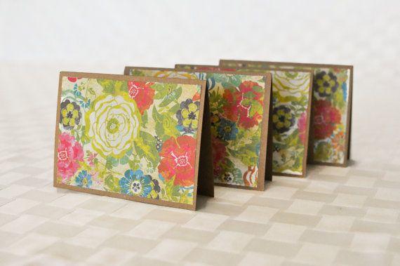 Handmade notecard set Flower Card Set Greeting by memoriesbymacy