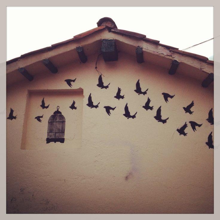 Lovely flying birds art