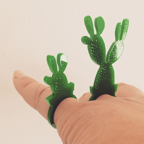 New designs by NakedDesign: bunny cactus-rings #nakeddesign #cactus #lasercut