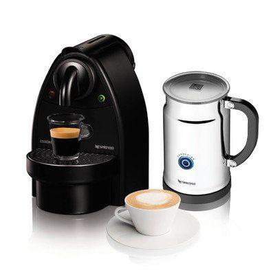 Essenza Manual Espresso Machine with Aeroccino Plus Milk Frother Bundle Option: Black/Aero Bundle