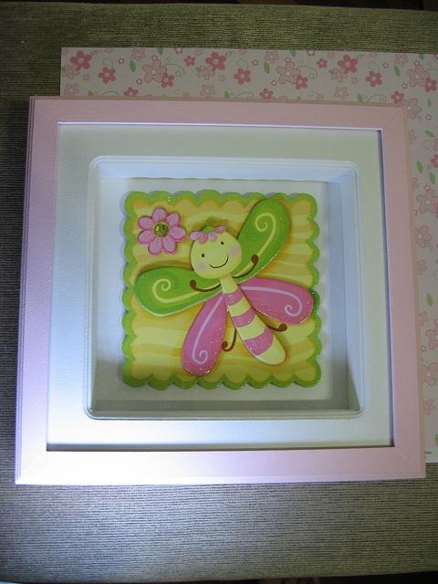 Quadro maternidade ou ambiente infantil borboletinha by Nuvem rosa - artesanato e decoração baby & kids , via Flickr