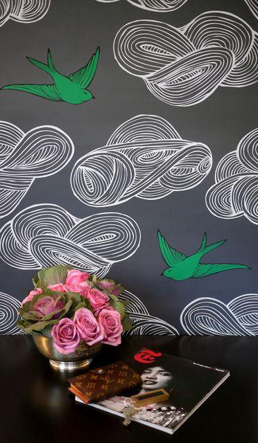 Daydream Wallpaper, Deep Gray