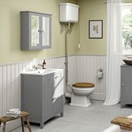 Image of Camberley Grey Furniture and High Level Toilet Suite