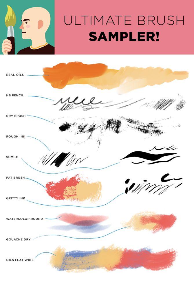 Kyle T Webster - Photoshop brush packs