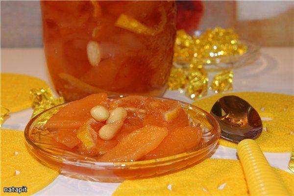 Айва+груши+лимон+миндаль=изумительное варенье рецепт с фотографиями