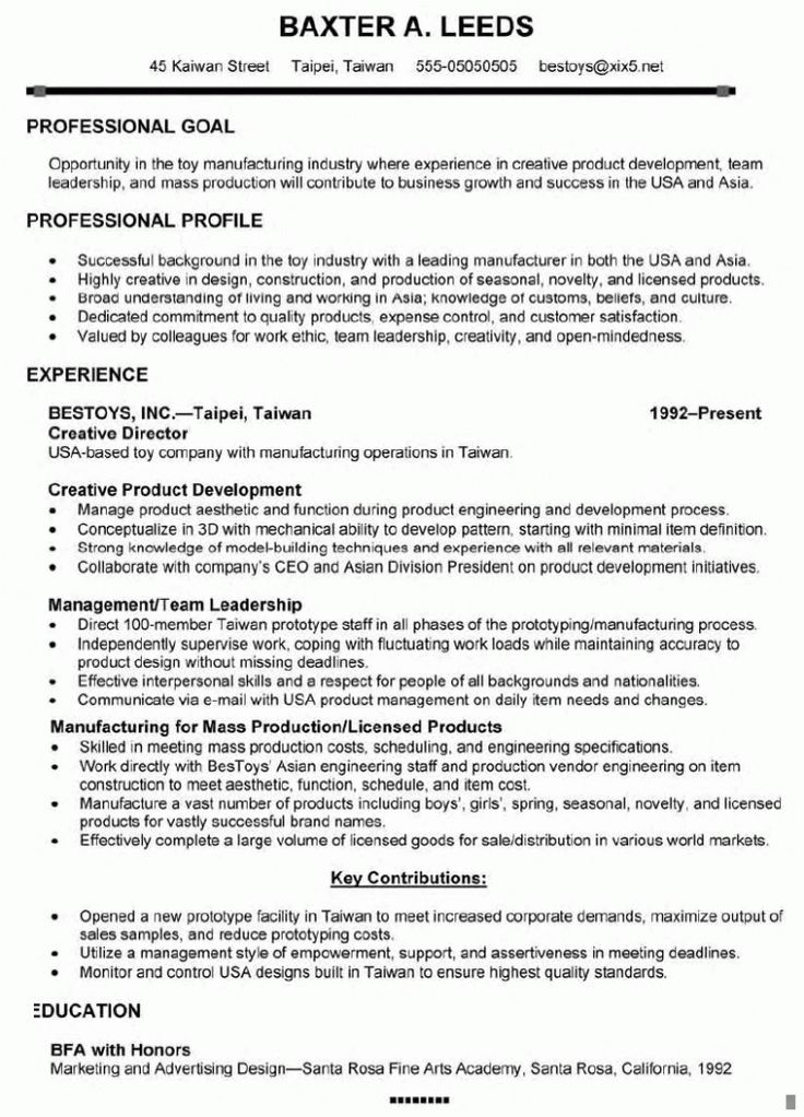 11 best Resume Samples images on Pinterest Creative resume - resume for marketing manager