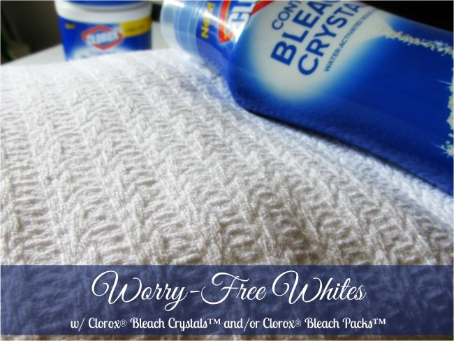 Worry-Free Whites with New Clorox® Bleach Crystals™ & Clorox® Bleach Packs™ at Walmart! #totalbleachcontrol #Ad