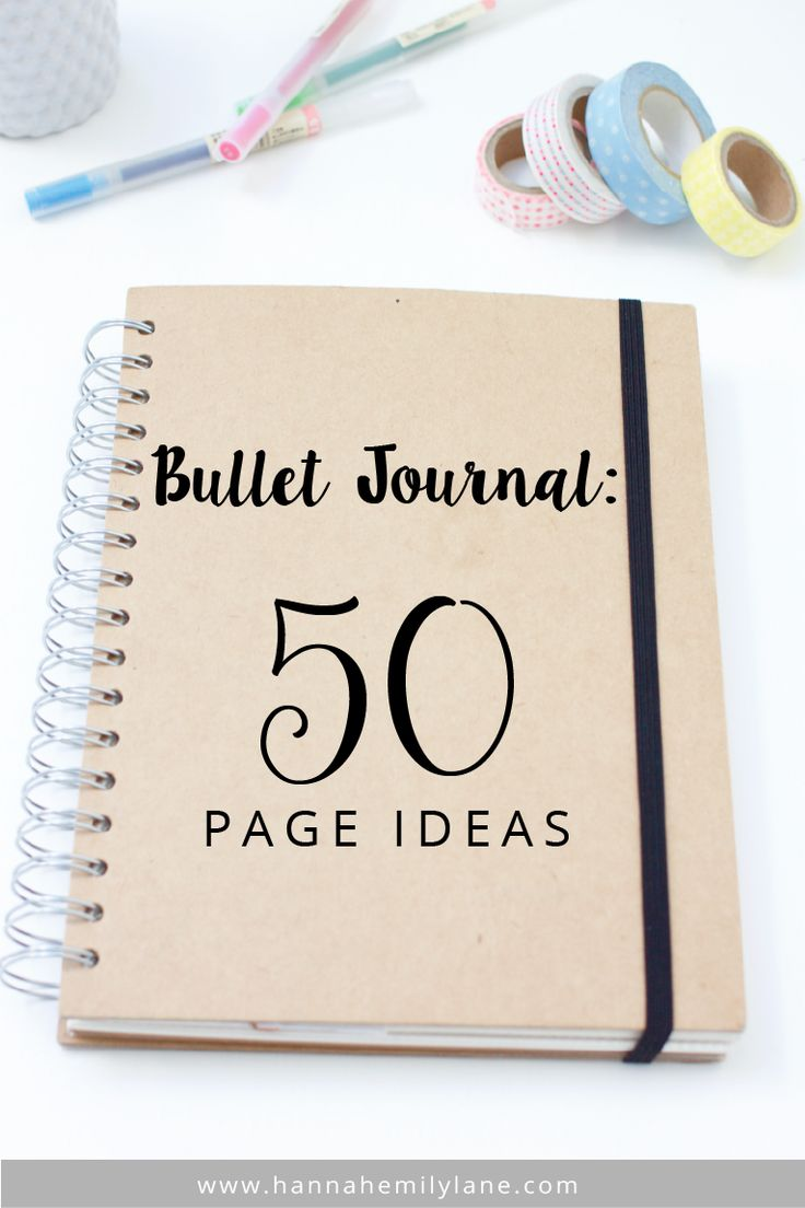 Bullet Journal - 50 Page Ideas | www.hannahemilylane.com