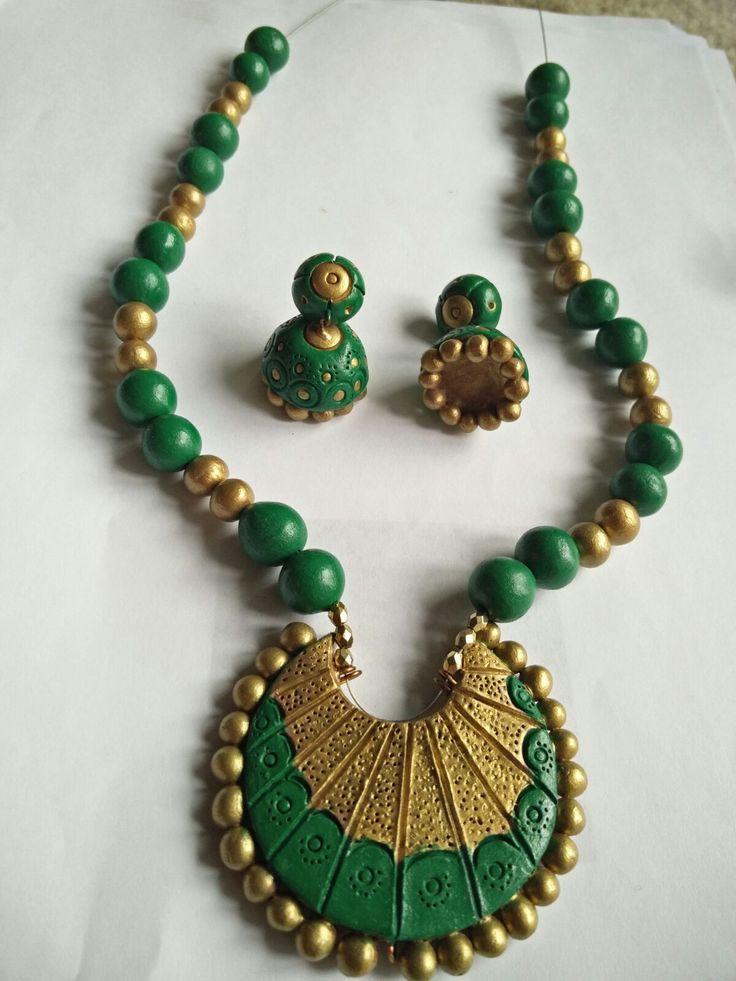 My terracotta jewelry work