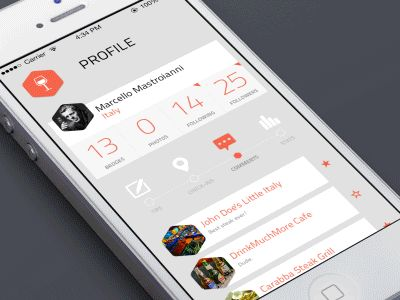 Dribbble - Fold out Menu [GIF] by Onur Oral