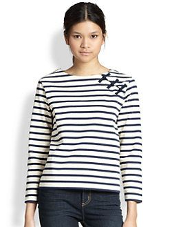 Marc by Marc Jacobs - Jacquelyn Striped Cotton Tee