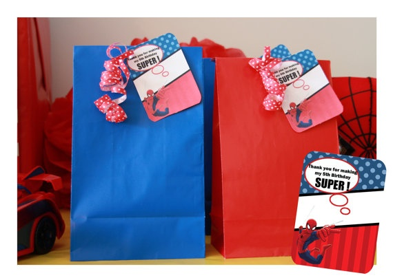 Spiderman Party  Birthday  CUSTOMIZED Spiderman by JocelynsParties, $15.00
