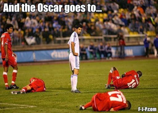 Seriously. All they do is cry. (I'd give the Oscar to the guy in white just for keeping a straight face.)