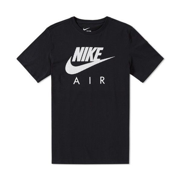 Nike Air Heritage Tee ($36) ❤ liked on Polyvore featuring tops, t-shirts, black white top, nike tee, nike, nike t shirts and nike tops