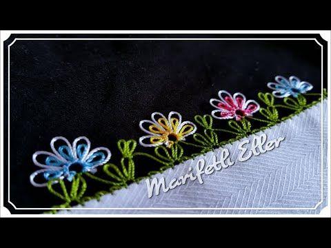 İğne Oyası İç İçe Pırpır Çiçek Modeli Anlatımlı Yapılışı - YouTube
