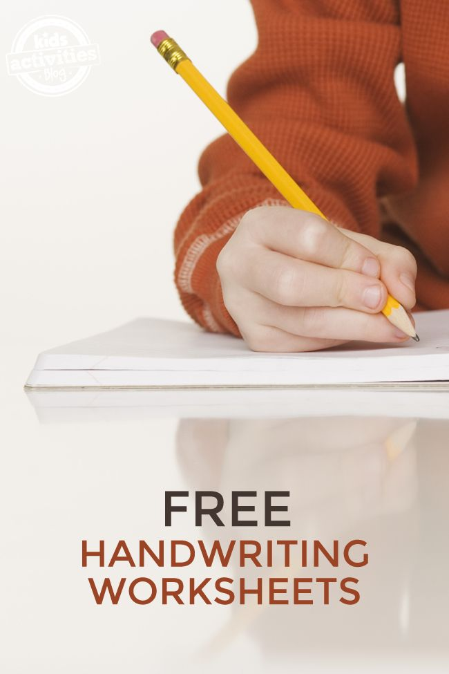 Free handwriting worksheets to practice letters, numbers and cursive.