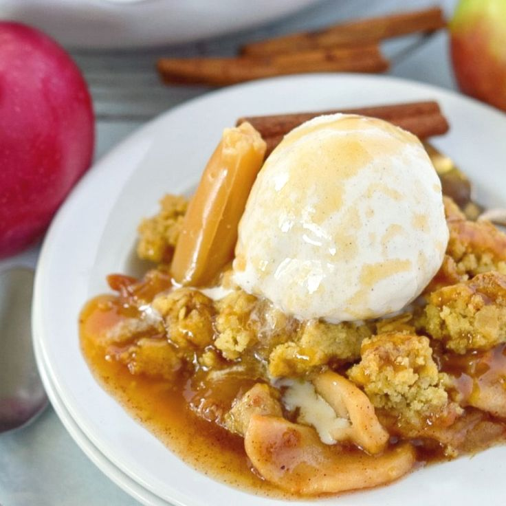 Caramel Apple Crisp! A classic fall dessert!