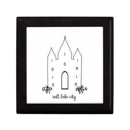 salt lake city utah temple simple modern jewelry box - kids kid child gift idea diy personalize design