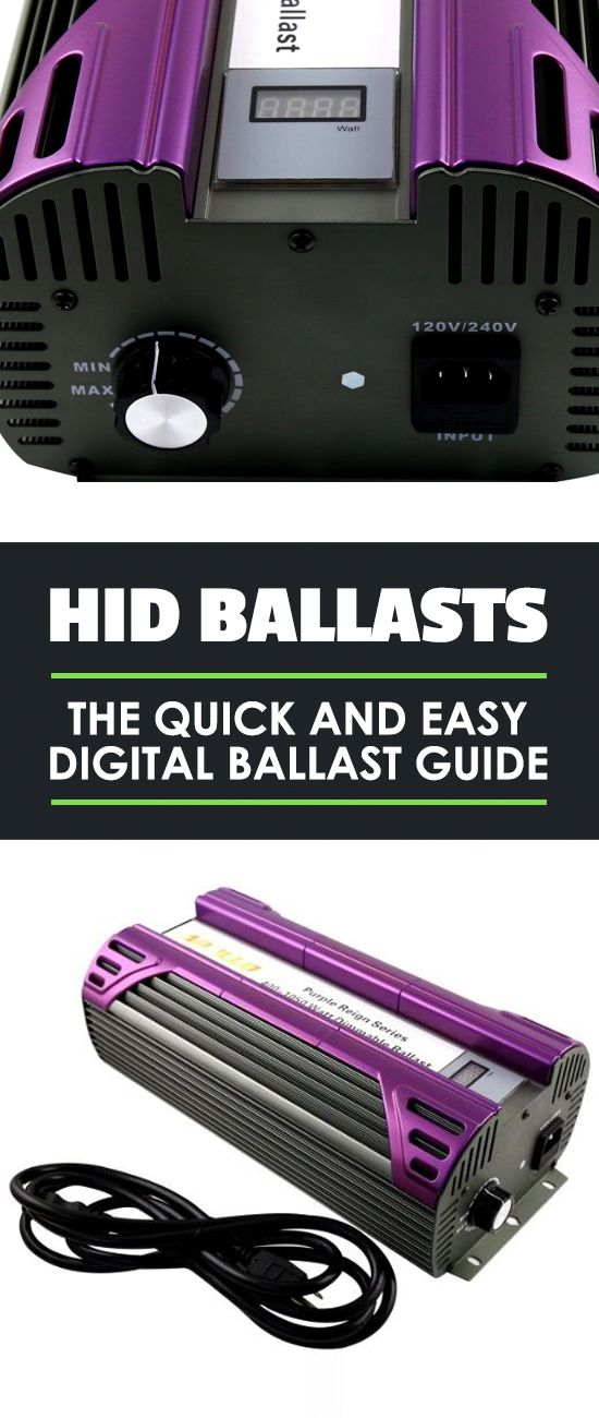Electric ballasts are a crucial part of your growing setup...don't make the wrong choice. All you need to know about MH and HPS ballasts is in this guide.
