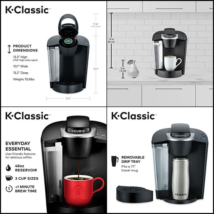 Keurig K55 K-Classic Single Serve Programmable K-Cup Pod Coffee Maker Black New #Keurig