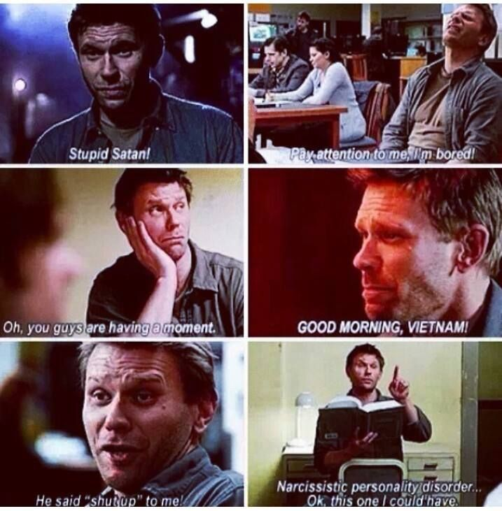 Someone please give him attention! It's all he wants! #Supernatural #MarkPellegrino #Lucifer