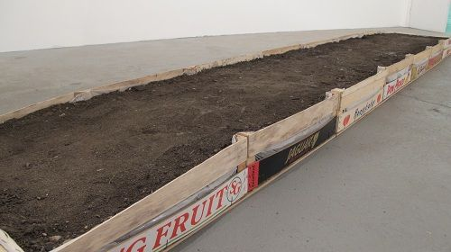 A beaten path to... (Interactive Path Installation 4m x 1m East London Earth) Pamela Carr 2011-12