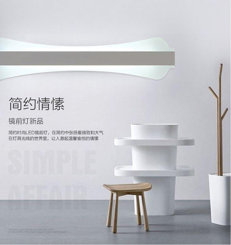 bathroom light  AliExpress.comの 壁ランプ からの 私の店への歓迎!1.ある場合には、 ロシア友人、 あなたのことを覚えてくださいフルネームを提供するので、あなたの小包を受け取ることができることを正常に。2.私たちは工場から直接販売、 私たちはあなたでは、 最高品質の製品、 を速 中の クリエイティブ アクリル アルミ led ミラー ライト壁ランプ通路リビング ルーム防水防曇ミラー ランプ 60 センチ/18 ワット 2131