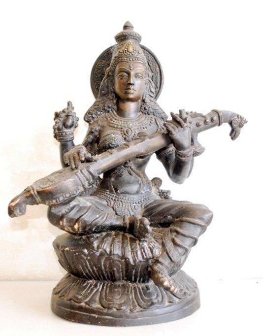 Vintage Old Brass 18 Big Collectible Hindu Goddess