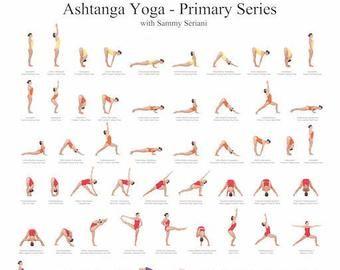 ashtanga yoga poster printable yoga poster yoga chart