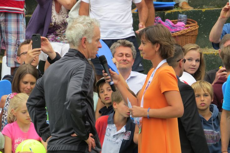 Dominique Monami & John McEnroe