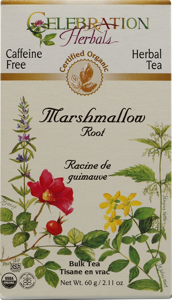 Celebration Herbals Organic Marshmallow Root Bulk Tea Caffeine Free: Very soothing & beneficial tea!