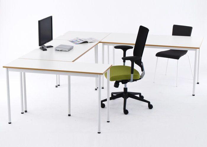 組み合わせればオフィスにぴったりのレイアウトが可能!。[在庫限り]SHシンプルテーブル W1000xD700 / 木目エッジ Z-SHST-1070WH【送料無料】【代引き不可】 アールエフヤマカワ RFyamakawa ミーティングテーブル ミーティングデスク 会議用テーブル 会議机 会議室  テーブル 会議デスク デスク  オフィス 事務机 机