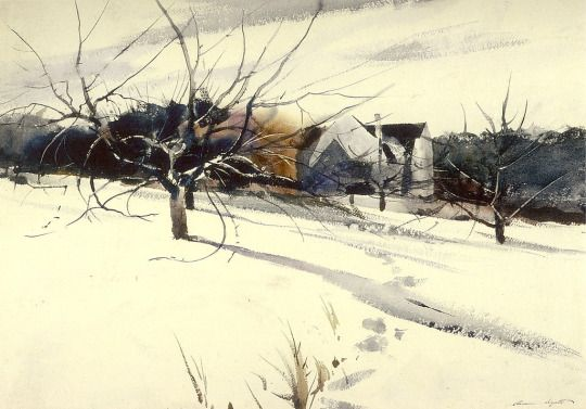 My Father's Studio -   Andrew  Wyeth   1940   American  1917-2009